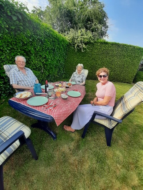 install week, having a bbq with my inlaws