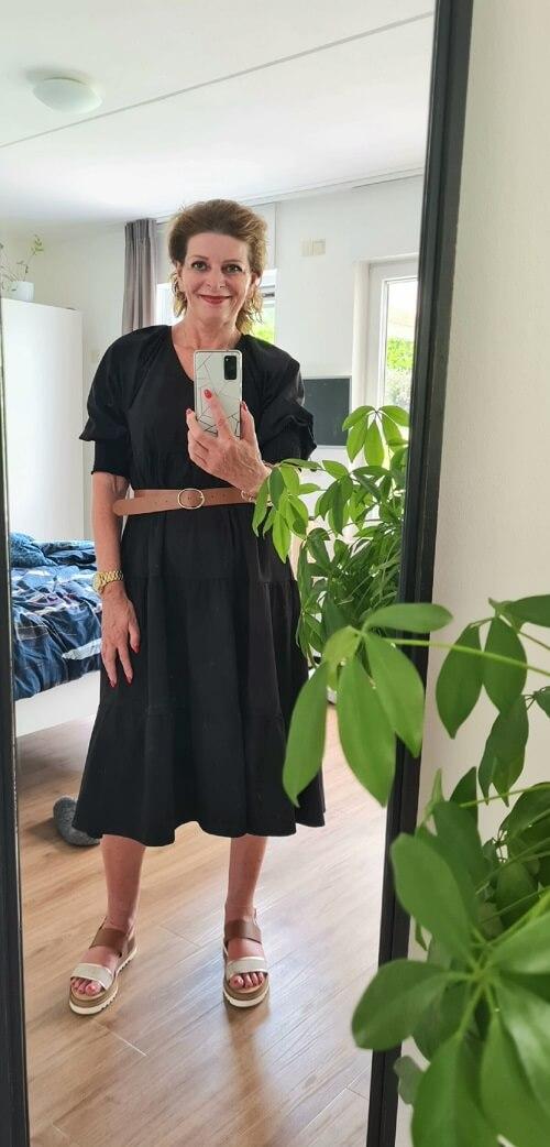 install week, my black dress
