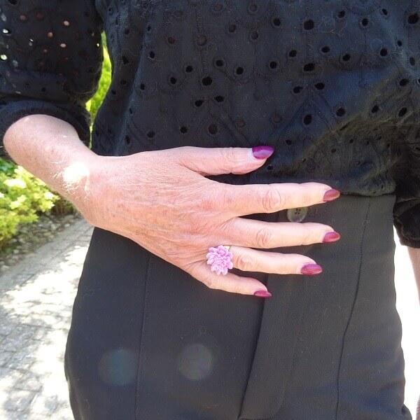 plastic pink ring