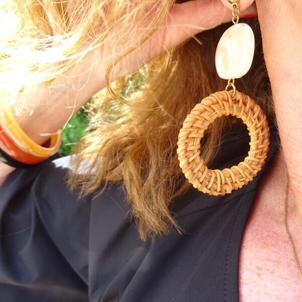 wicker earrings