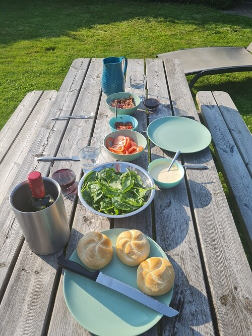 eating outside