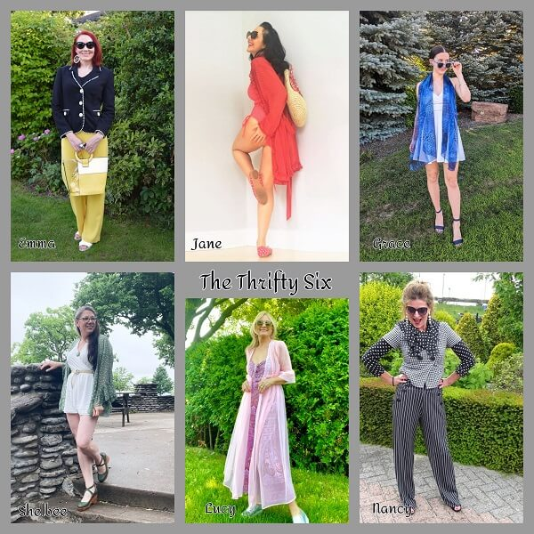 collage of pre loved fashion