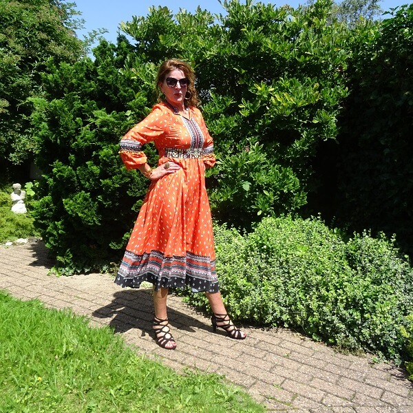 Orange Dress & Fancy Friday linkup