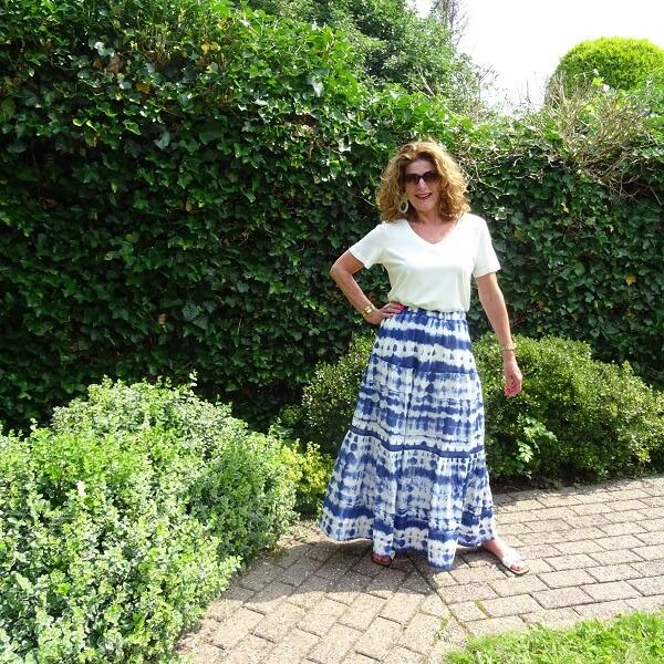 Tie Dye Maxi Skirt & Fancy Friday linkup