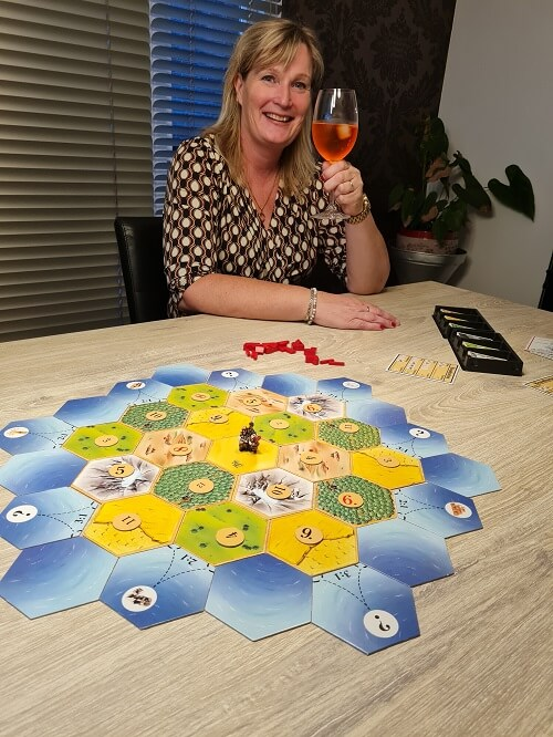 playing Catan with friends