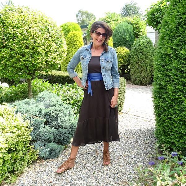 maxi skirt worn as a dress