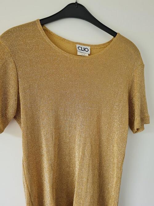 positive mood vintage golden top