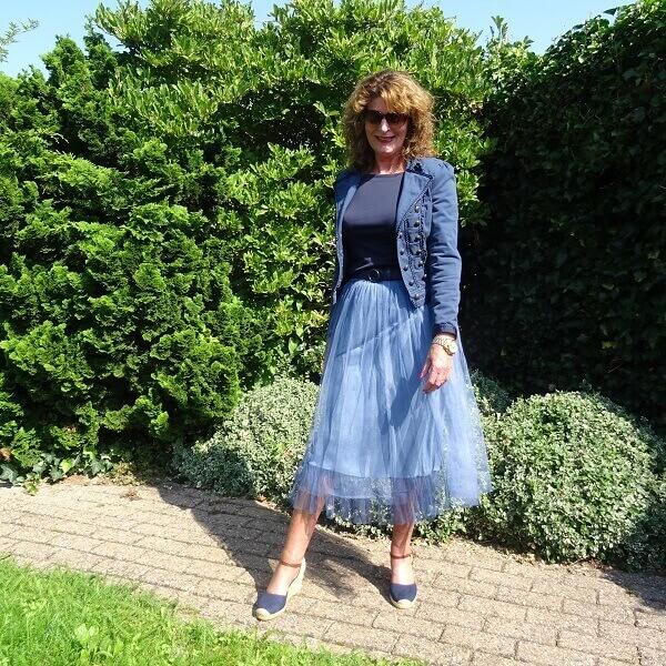 Denim Tulle Skirt & Fancy Friday linkup