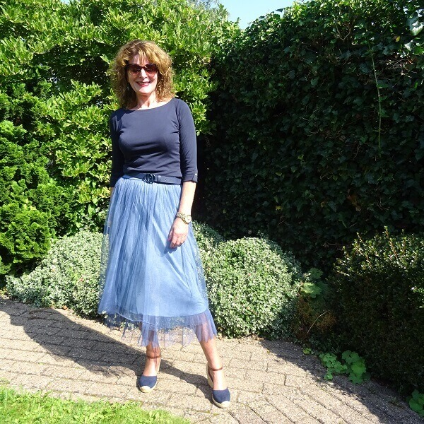 tulle skirt with espadrilles