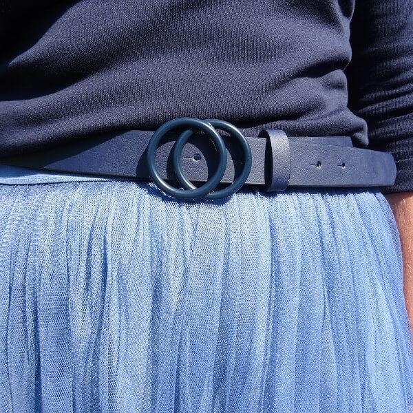 navy blue loop belt
