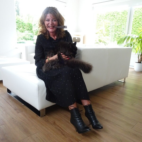 Me with our Mainecoon Castor